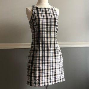 Vintage Esprit Preppy Plaid Shift Dress